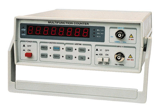 Photo Eye Frequency Counter : Frequency counter